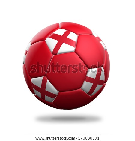 England soccer ball isolated white background - stock photo