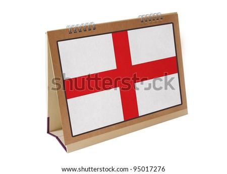 england table flag isolated on white - stock photo