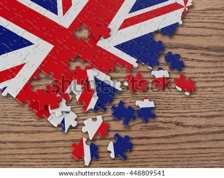 England UK Wavy Flag with wood 3D Rendering