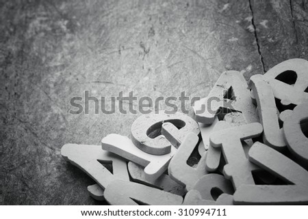 English alphabet background.Clay letters.