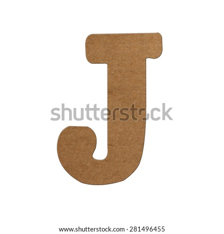 English alphabet Designed with brown paper texture. - stock photo