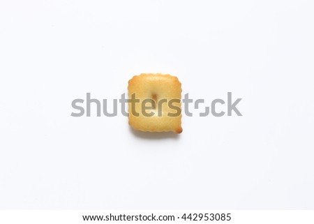 English alphabet made from bread.Letters of the British alphabet made of gingerbread. The letter q - stock photo