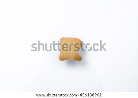 English alphabet made from bread. Letters of the British alphabet made of gingerbread. The letter R - stock photo