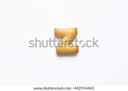 English alphabet made from bread.Letters of the British alphabet made of gingerbread. The letter z - stock photo