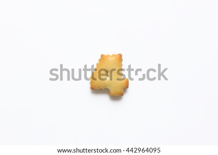 English alphabet made from bread.Letters of the British alphabet made of gingerbread. the number 4 - stock photo