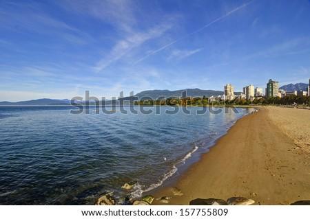 English Bay, Vancouver, British Columbia, Canada - stock photo