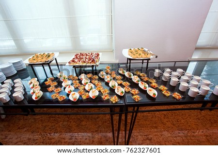 buffet meal hotel continental breakfast snacks stock photo 452524333 shutterstock. Black Bedroom Furniture Sets. Home Design Ideas