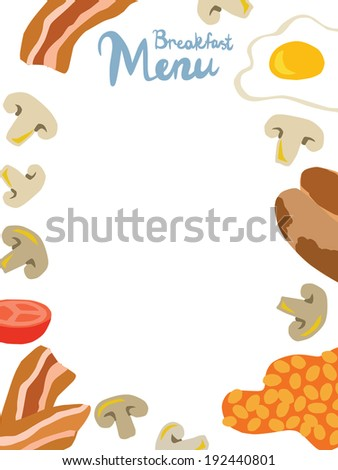 English Breakfast Menu Template Throughout Breakfast Menu Template