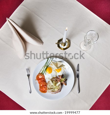 English breakfast on the table 2 - stock photo