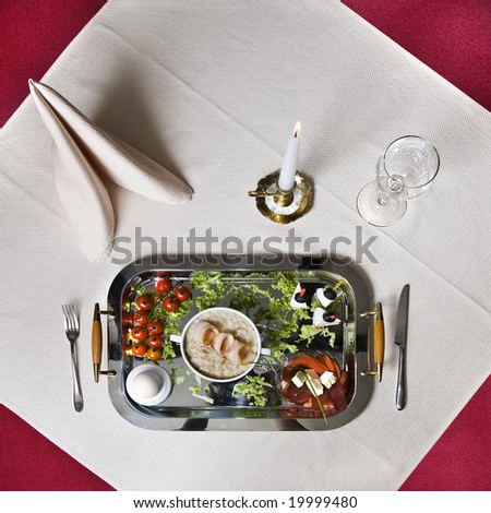 English breakfast on the table - stock photo