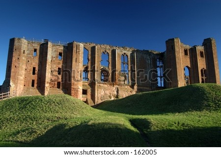 English Castle - stock photo