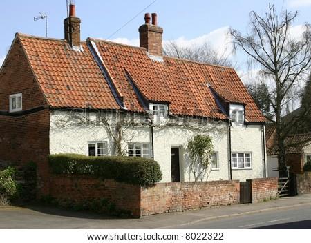 English Cottage In The Village Of Woodborough, Nottinghamshire, England, U.K. - stock photo