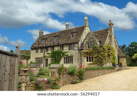 English Countryside Quaint Cottages Stock Photo 56294014 ... Quaint English Cottages