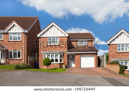 English detached houses - stock photo