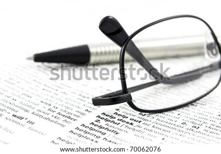 English dictionary close up - stock photo