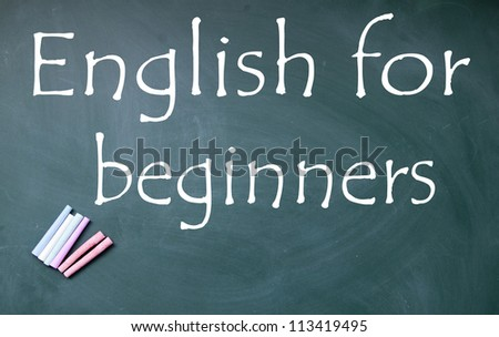 english for beginners title - stock photo