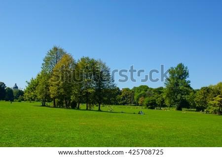 English garden in Munich, Bayern, Germany - stock photo