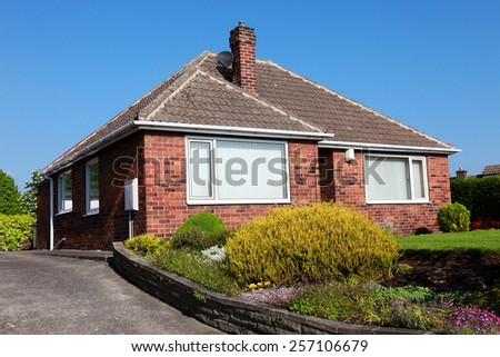 English House with Garden - stock photo