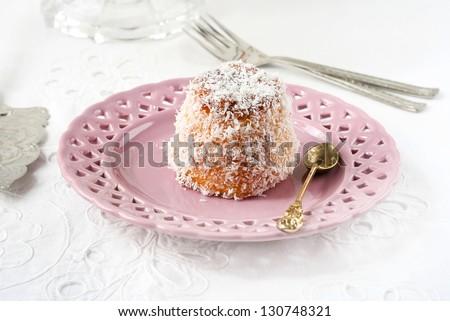 English madeleine on  plate - stock photo