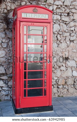 English phone booth - stock photo