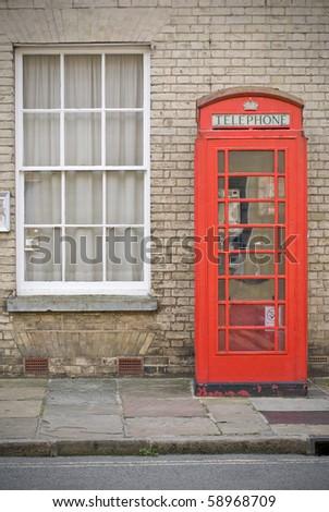 English phone booth, Suffolk UK - stock photo