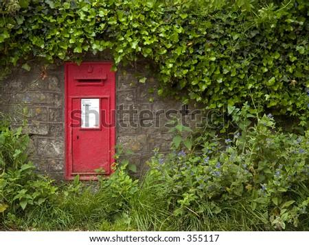 English post box - stock photo