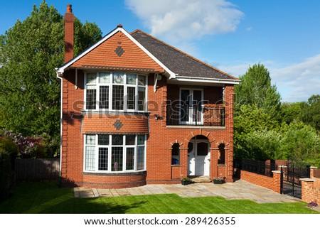 English Redbrick House - stock photo