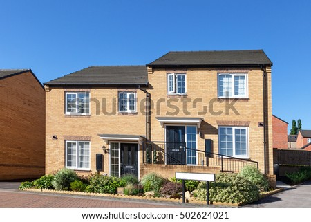 English semi detached houses