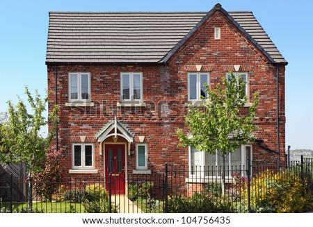 English style house - stock photo