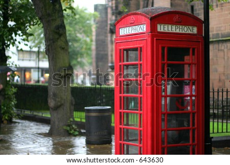 English Telephone Booth - stock photo