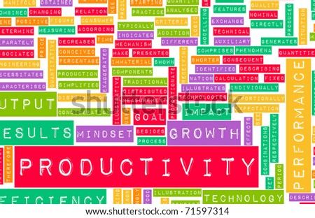 Enhancing Productivity in the Business Office Art - stock photo
