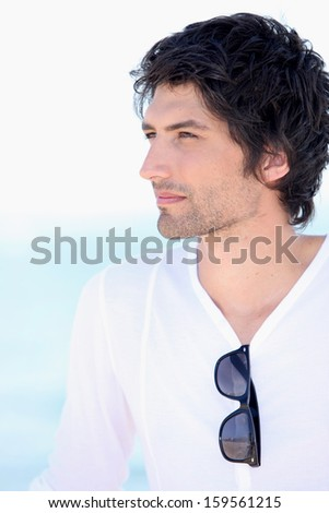 Enigmatic man - stock photo