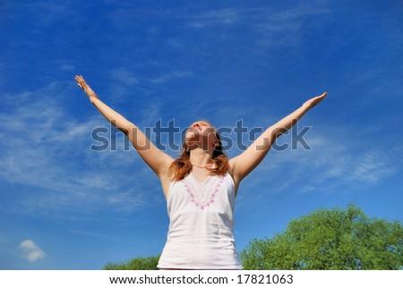 enjoy freedom - stock photo