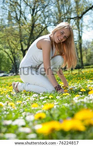 Enjoy life - happy young teen - stock photo