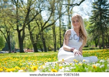 Enjoy life - happy young woman - stock photo