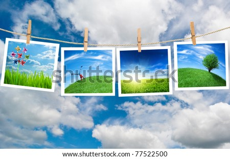 enjoy nature - stock photo