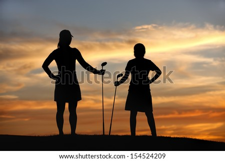 Enjoy the view on the golf course. - stock photo
