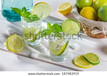 Enjoy your fresh and cold citrus drink