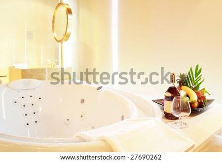 enjoy your Jacuzzi bathtub - stock photo