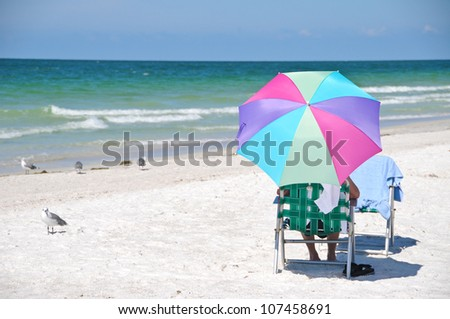 Enjoying a Relaxing Day at the Beach - stock photo