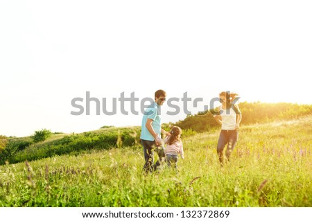 enjoying life together - stock photo