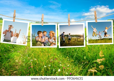 enjoying of life together - stock photo