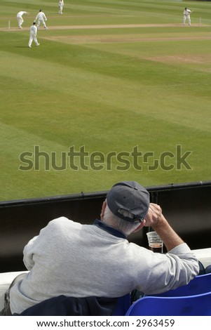 Enjoying the match - stock photo