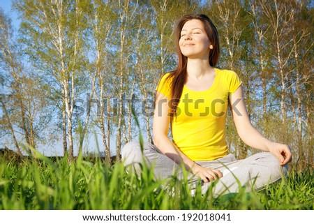 Enjoying the nature - stock photo