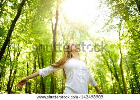 Enjoying the sun - stock photo