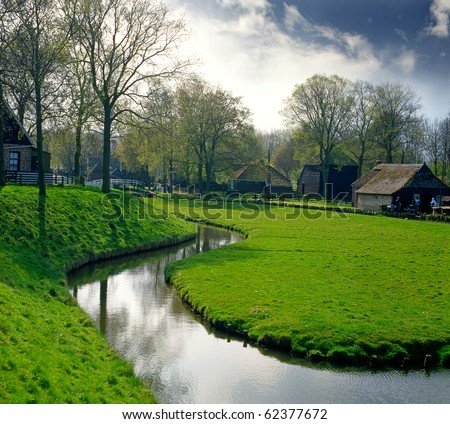 Enkhuizen, park of Zuiderzee, Holland - stock photo