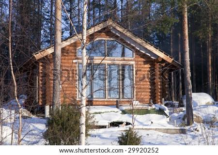 Enlargement of summer home. Building of a new indoor terrace. - stock photo