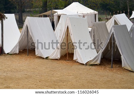 Enlisted Soldier's Tents - stock photo