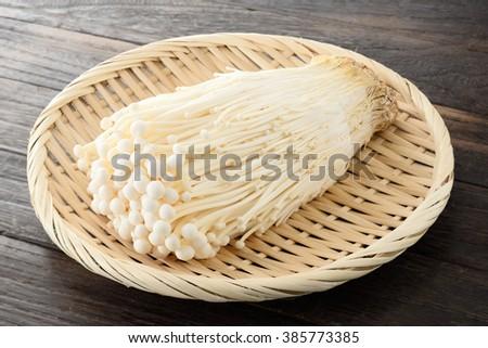 enoki mushroom - stock photo