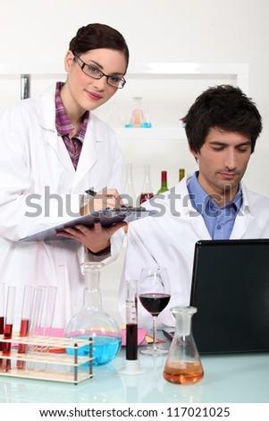Enology laboratory - stock photo